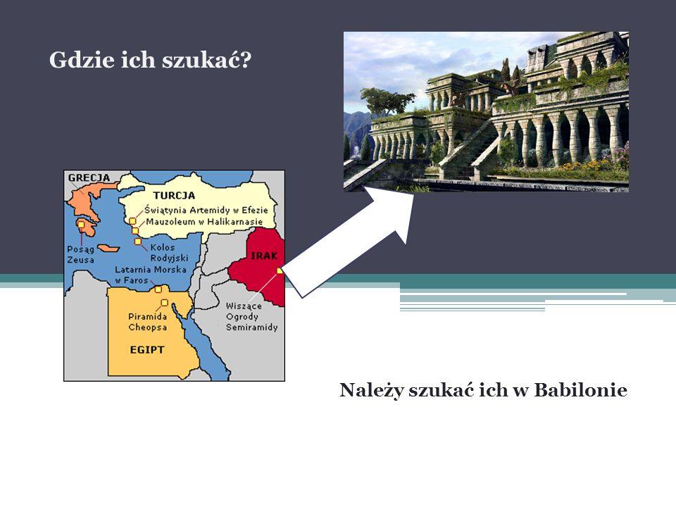 Gdzie ich szukać Należy szukać ich w Babilonie