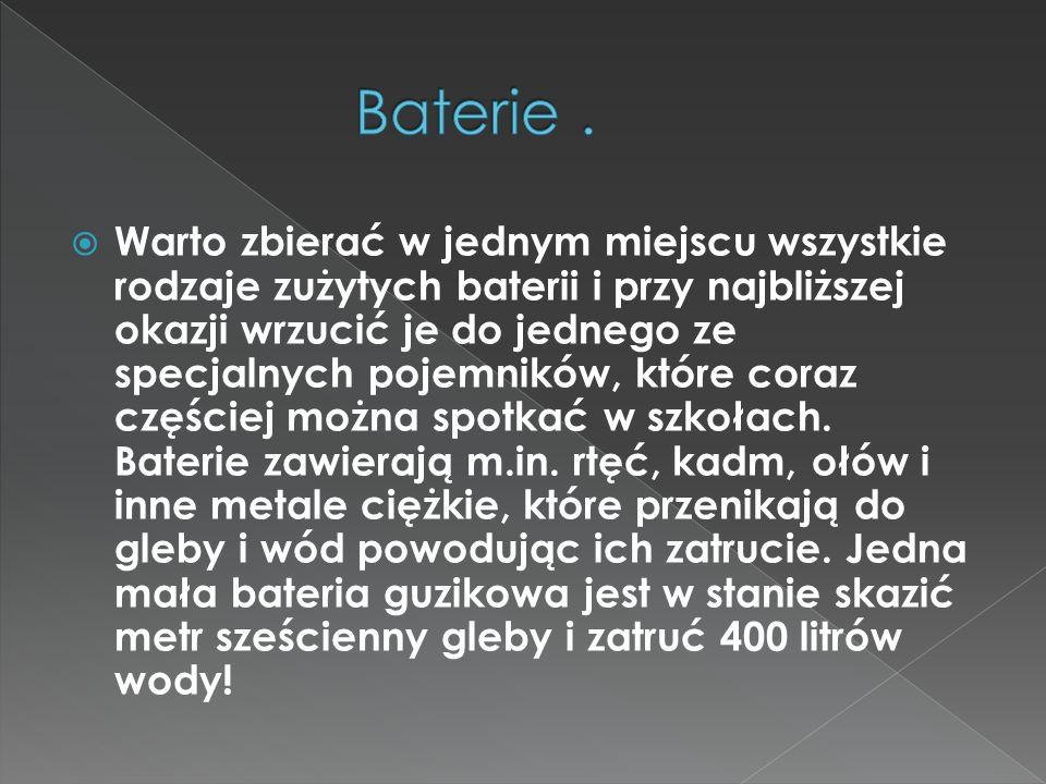 Baterie .