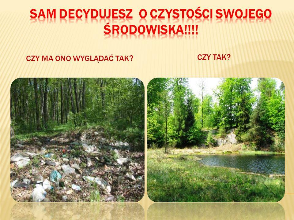 Sam decydujesz o czystości swojego środowiska!!!!