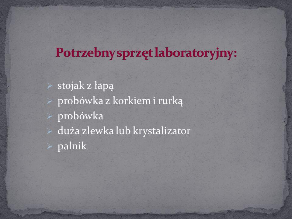Potrzebny sprzęt laboratoryjny: