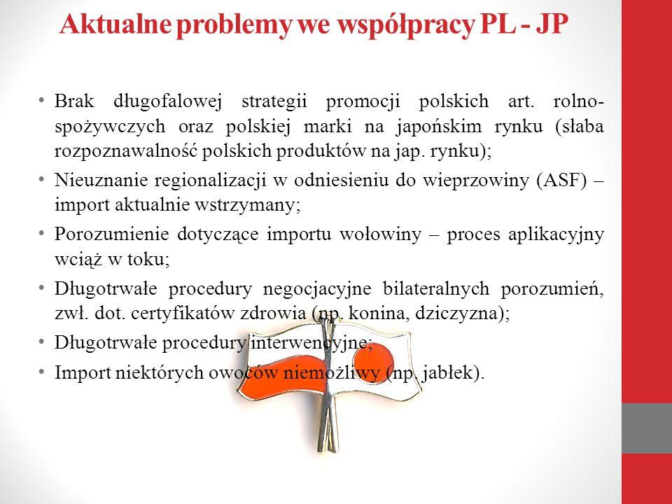 Aktualne problemy we współpracy PL - JP