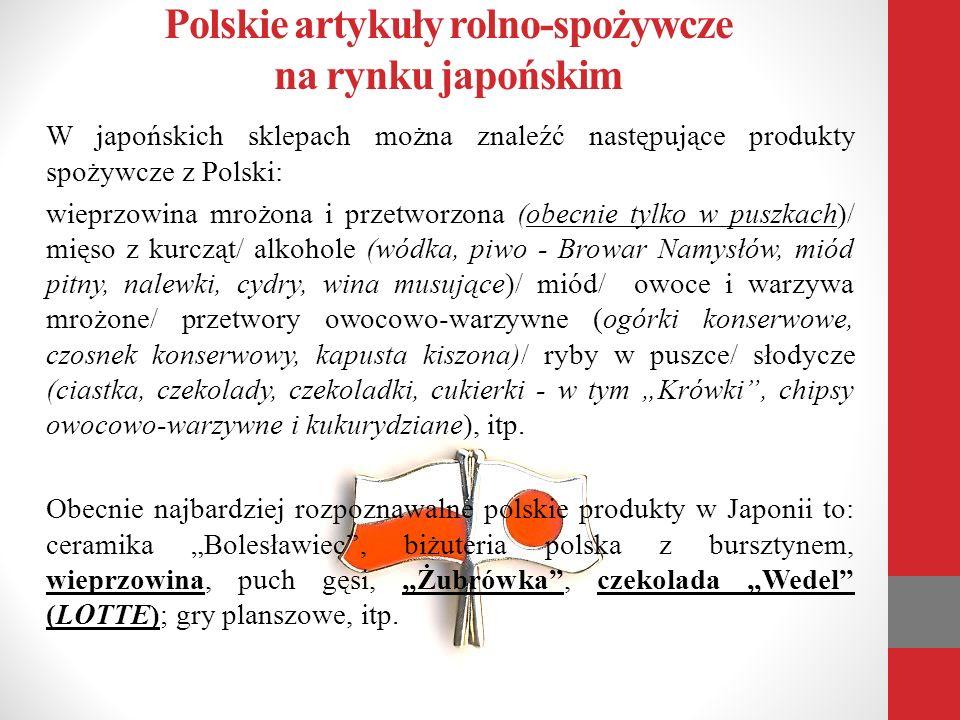Polskie artykuły rolno-spożywcze na rynku japońskim