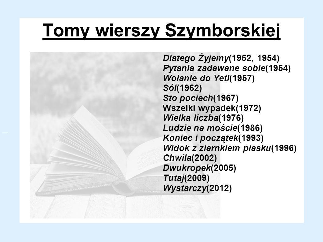 Tomy wierszy Szymborskiej