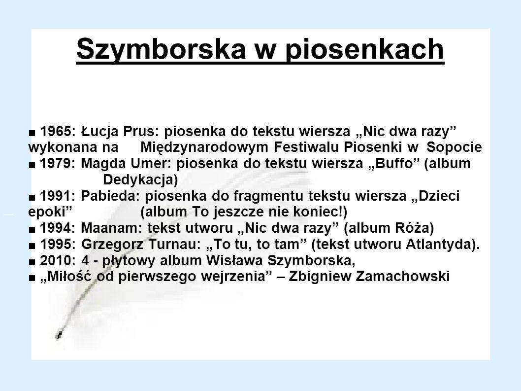 Szymborska w piosenkach