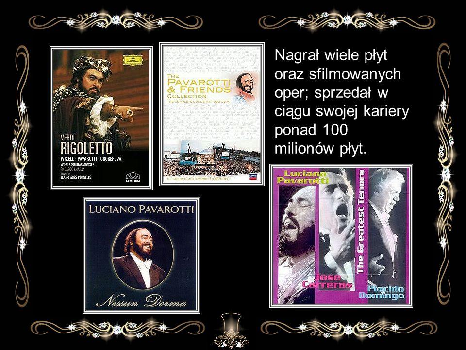 Nagrał wiele płyt oraz sfilmowanych oper; sprzedał w ciągu swojej kariery ponad 100 milionów płyt.