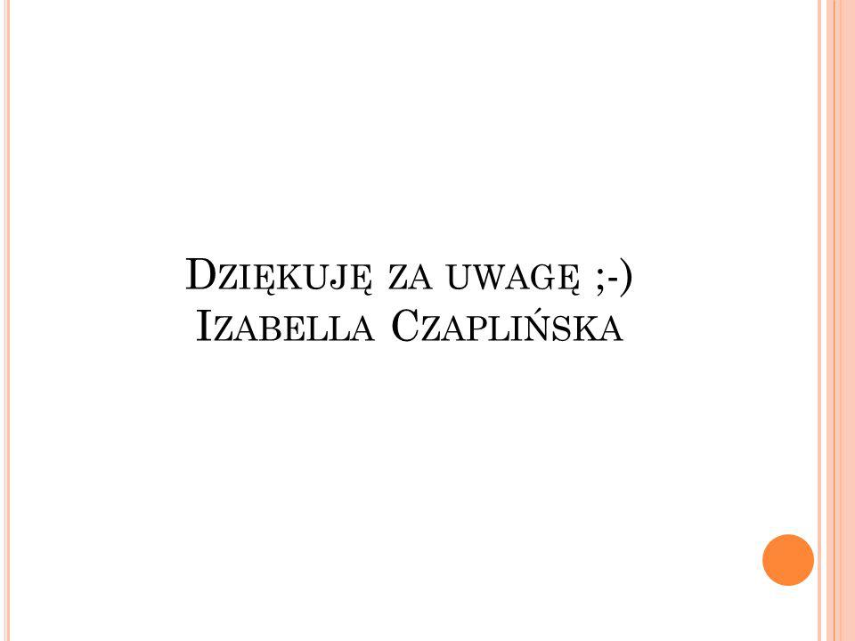 Dziękuję za uwagę ;-) Izabella Czaplińska