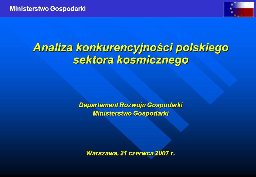 Analiza konkurencyjności polskiego sektora kosmicznego