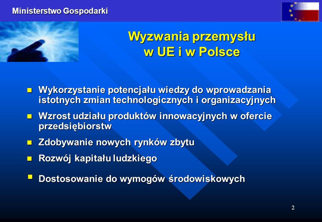 Wyzwania przemysłu w UE i w Polsce
