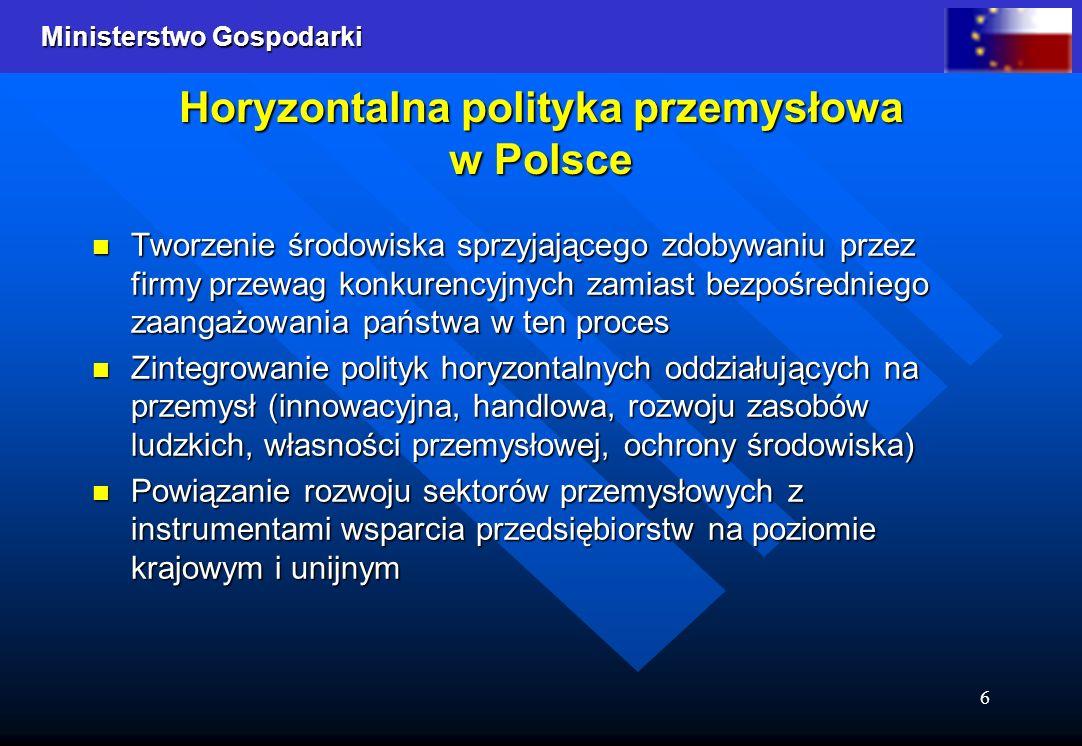 Horyzontalna polityka przemysłowa w Polsce