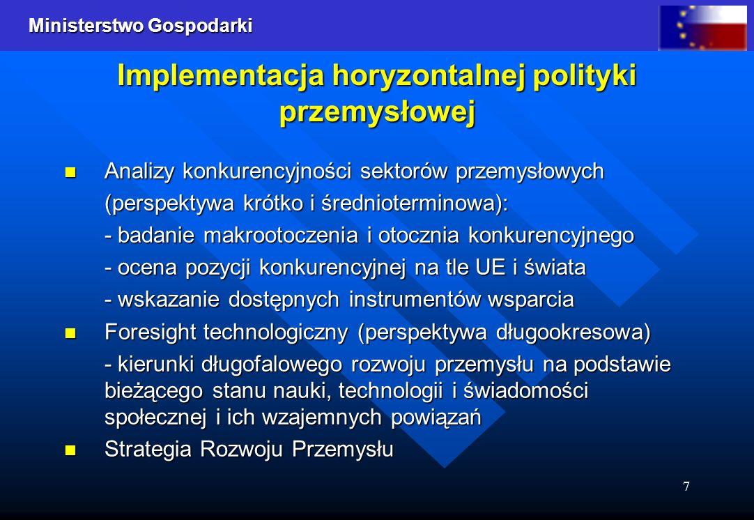 Implementacja horyzontalnej polityki przemysłowej