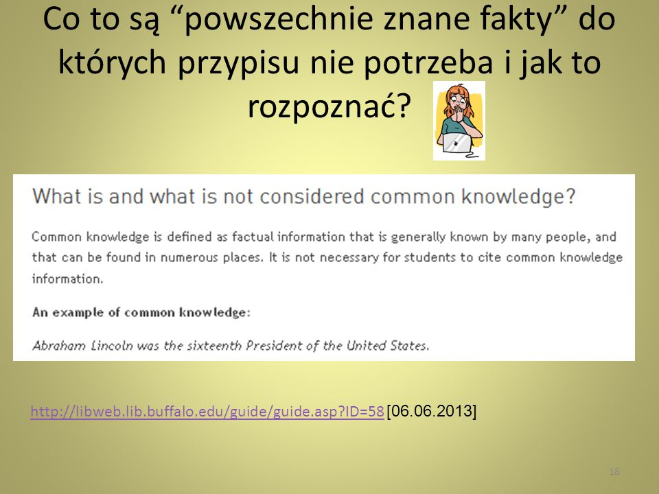Co to są powszechnie znane fakty do których przypisu nie potrzeba i jak to rozpoznać