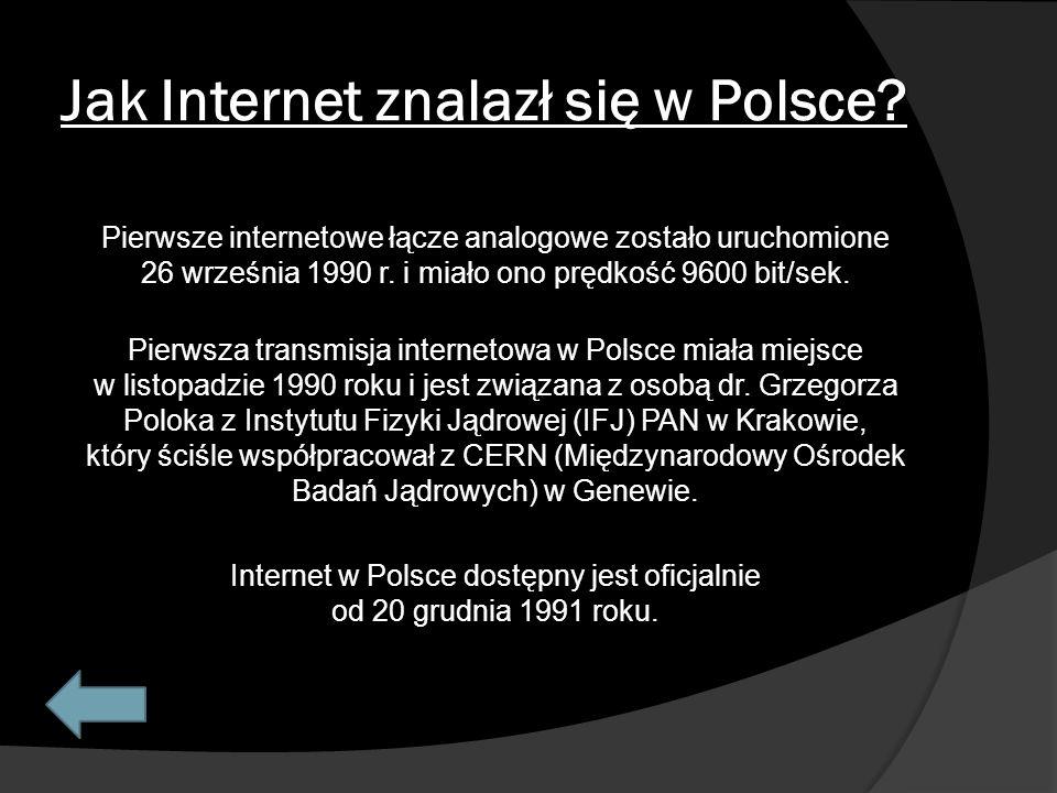 Jak Internet znalazł się w Polsce