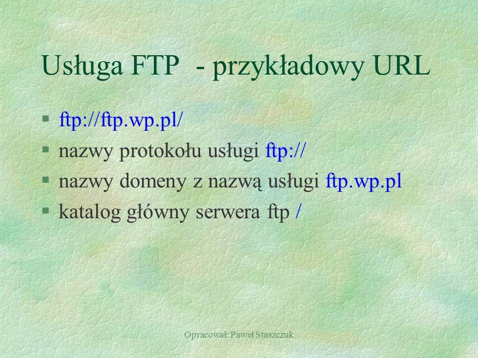 Usługa FTP - przykładowy URL