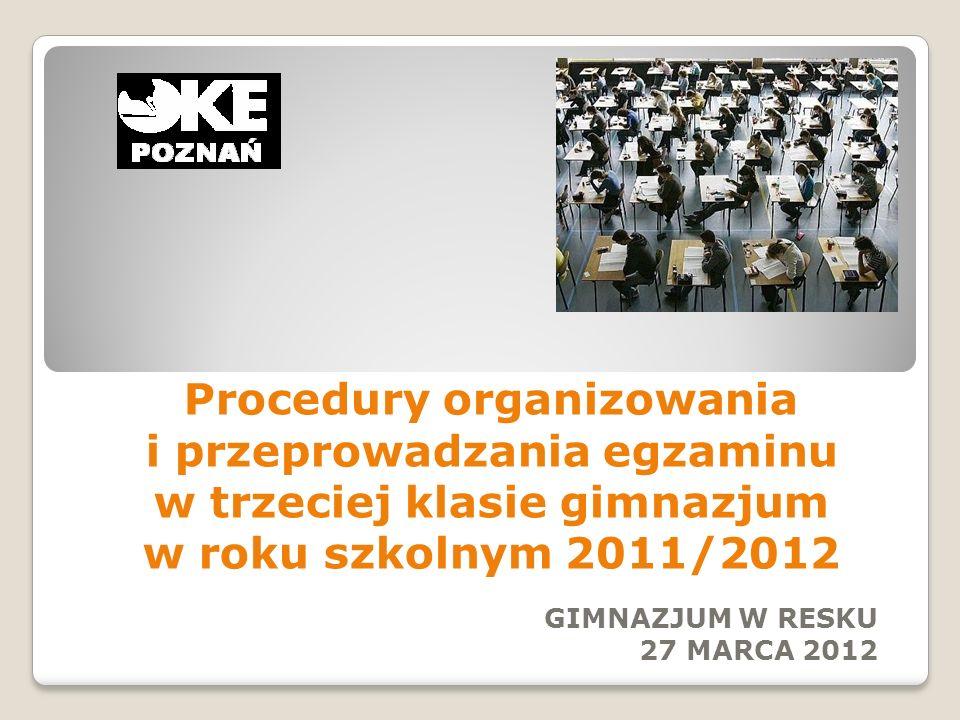 GIMNAZJUM W RESKU 27 MARCA 2012