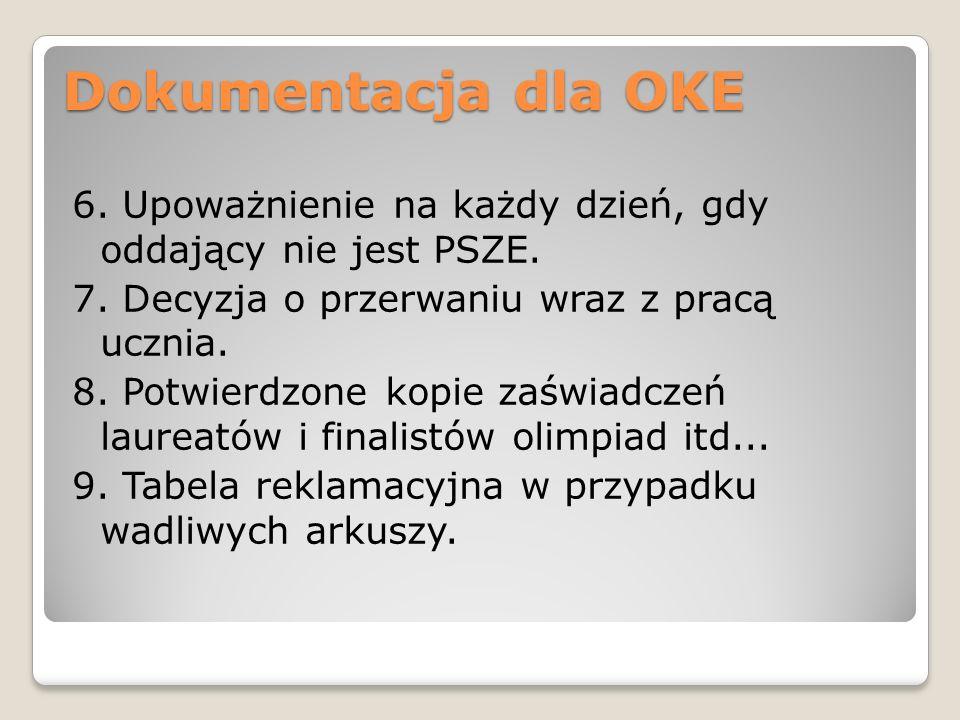 Dokumentacja dla OKE