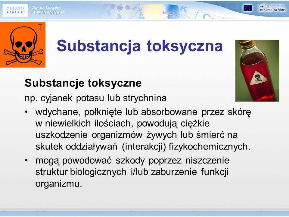 Substancja toksyczna Substancje toksyczne