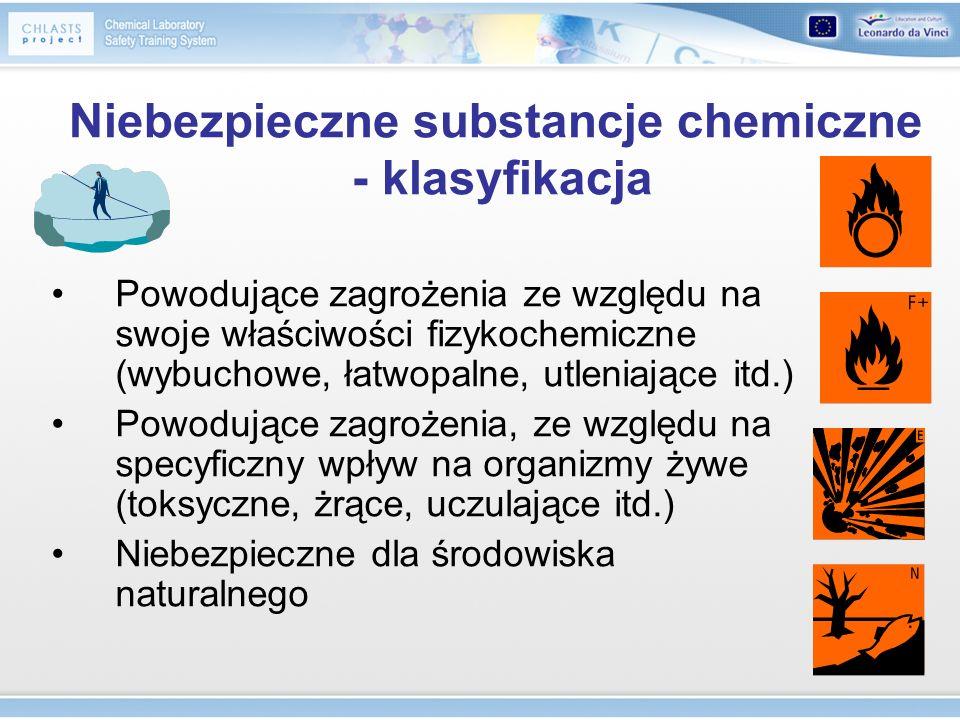 Niebezpieczne substancje chemiczne - klasyfikacja