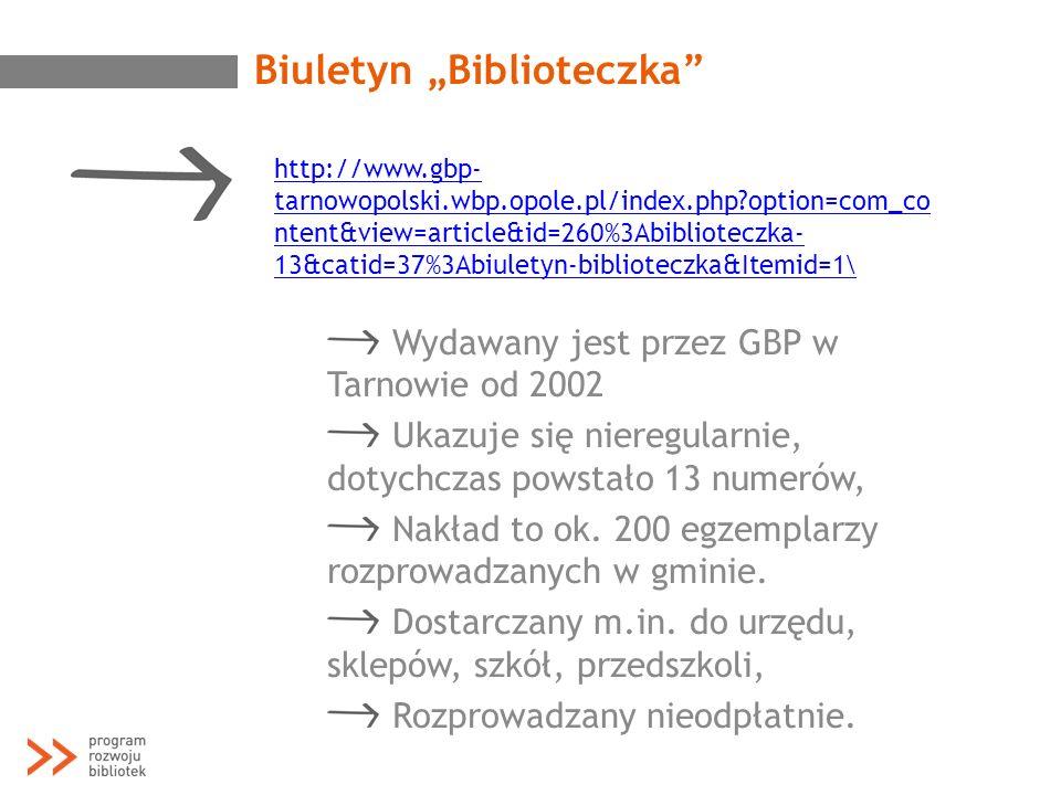 """Biuletyn """"Biblioteczka"""