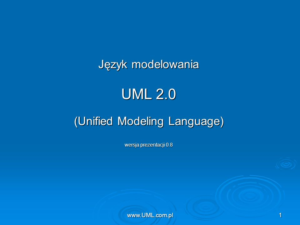 (Unified Modeling Language)
