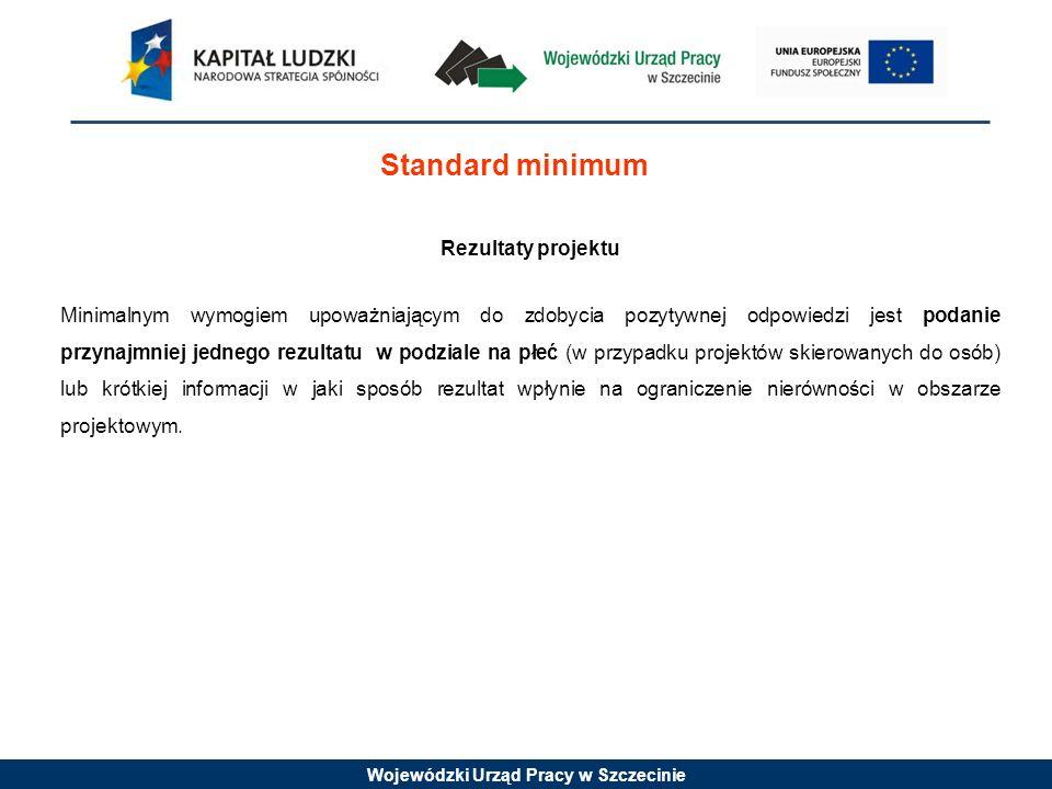 Standard minimum Rezultaty projektu