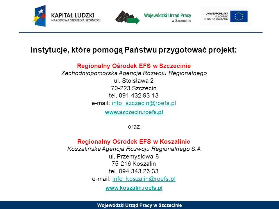 Instytucje, które pomogą Państwu przygotować projekt: