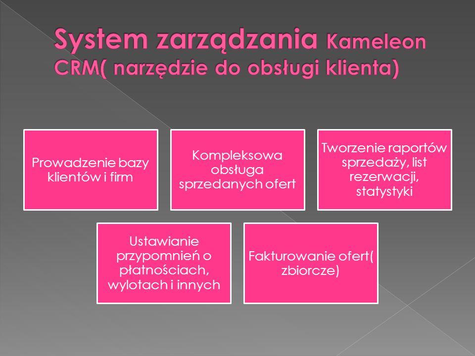 System zarządzania Kameleon CRM( narzędzie do obsługi klienta)