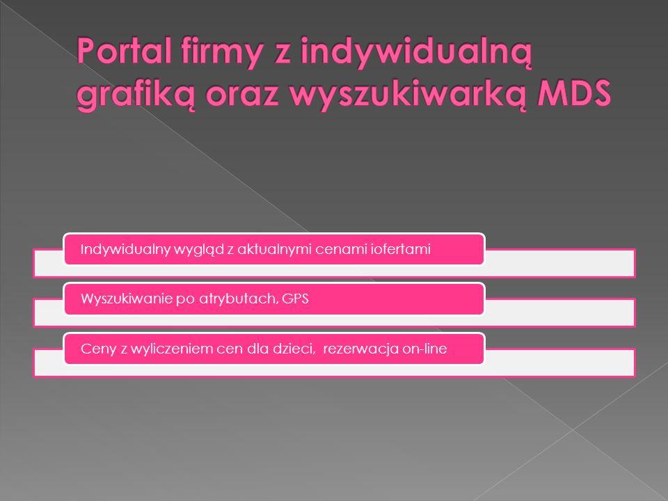 Portal firmy z indywidualną grafiką oraz wyszukiwarką MDS