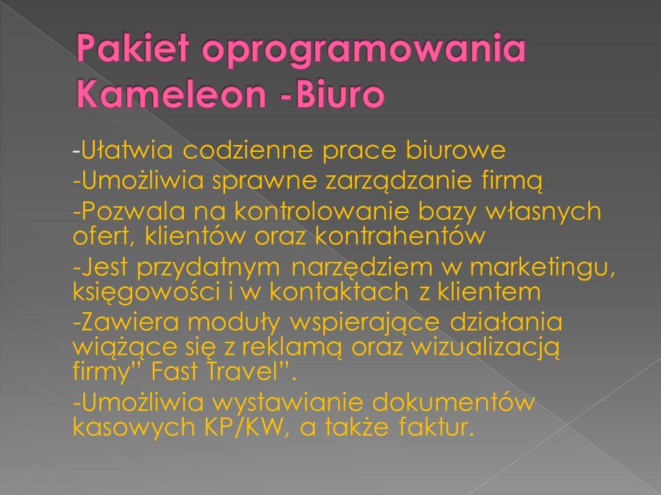 Pakiet oprogramowania Kameleon -Biuro