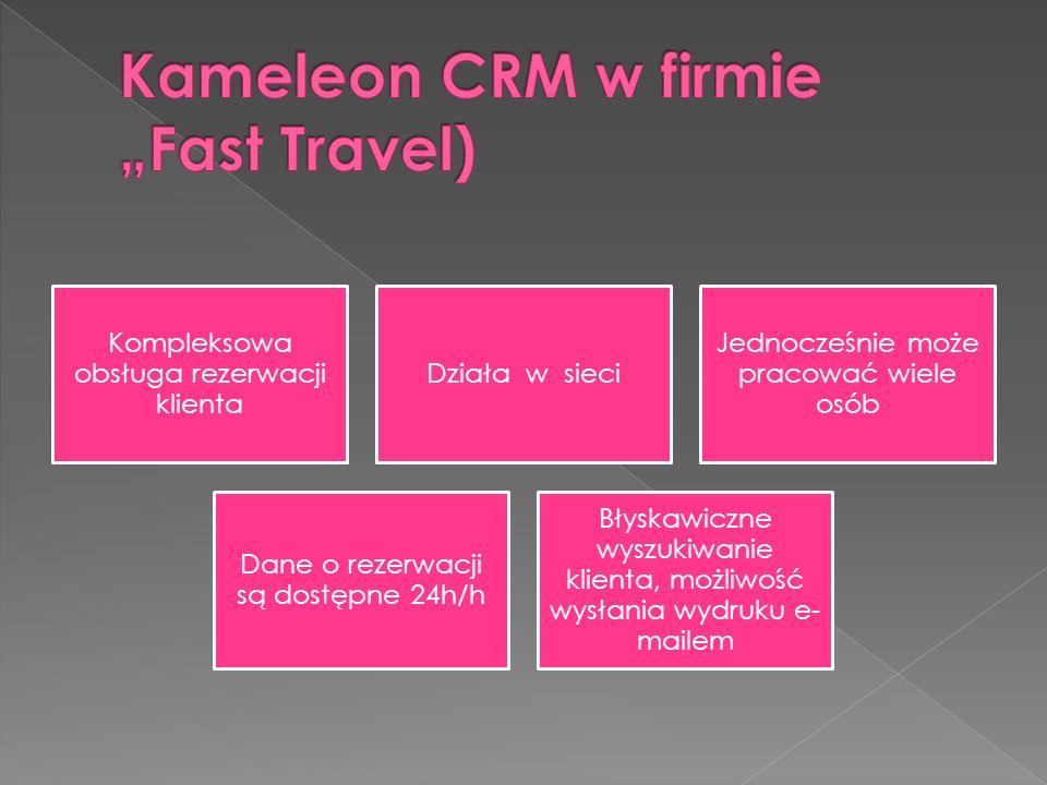 "Kameleon CRM w firmie ""Fast Travel)"