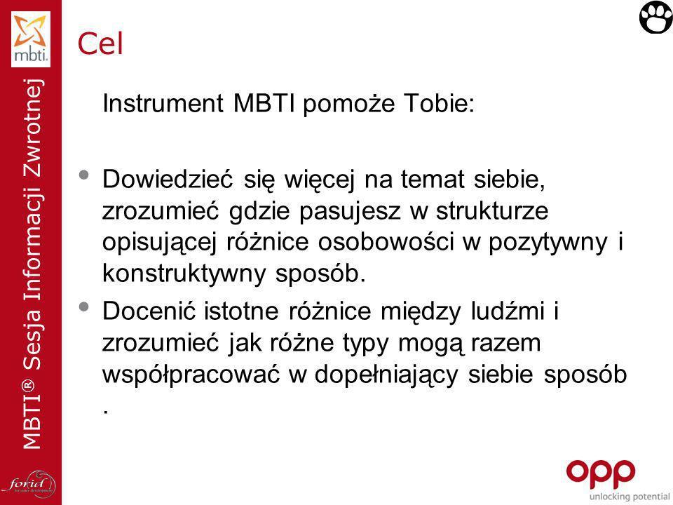 Cel Instrument MBTI pomoże Tobie: