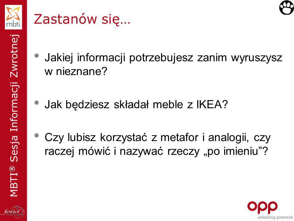 Zastanów się… Jakiej informacji potrzebujesz zanim wyruszysz w nieznane Jak będziesz składał meble z IKEA