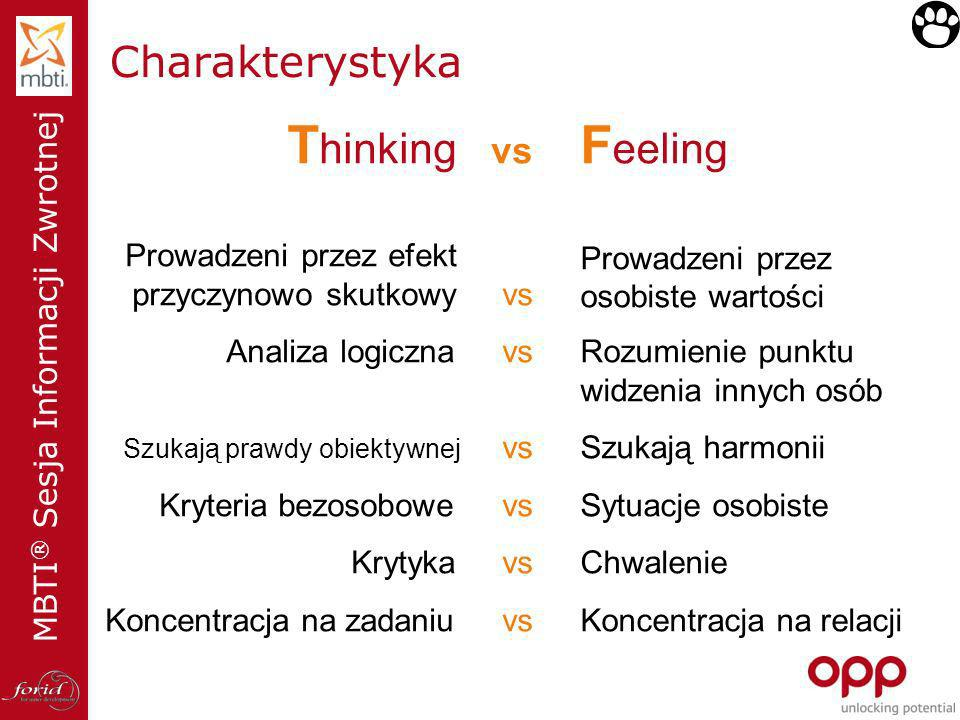 Thinking vs Feeling Charakterystyka