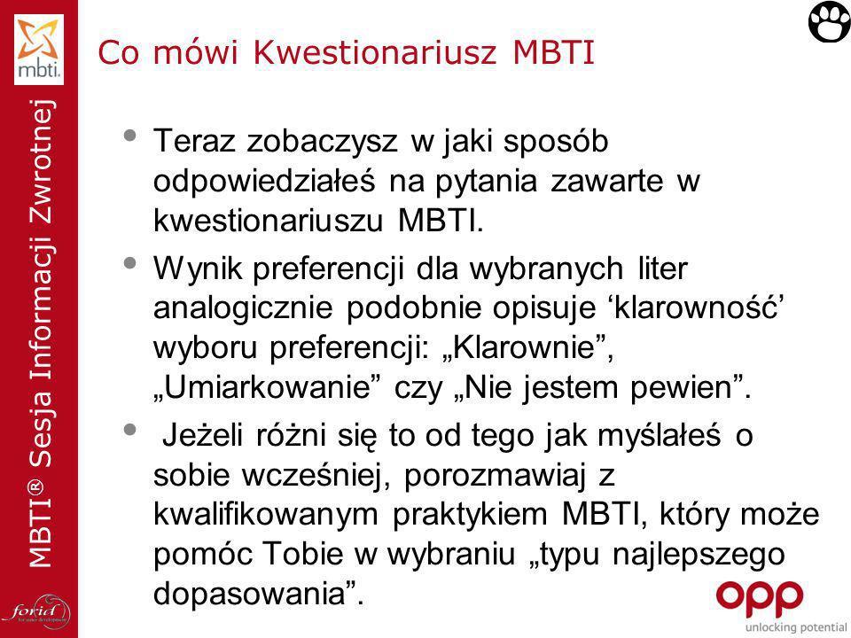 Co mówi Kwestionariusz MBTI
