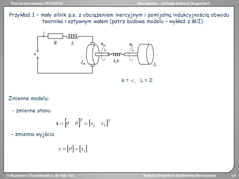 Przykład 1 – mały silnik p. s