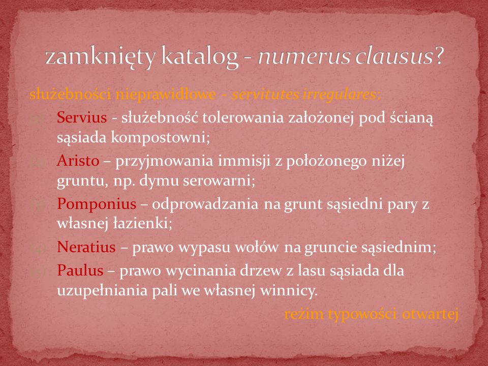 zamknięty katalog - numerus clausus