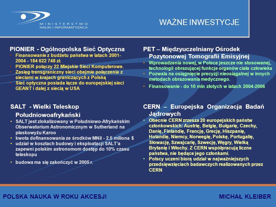 WAŻNE INWESTYCJE PIONIER - Ogólnopolska Sieć Optyczna