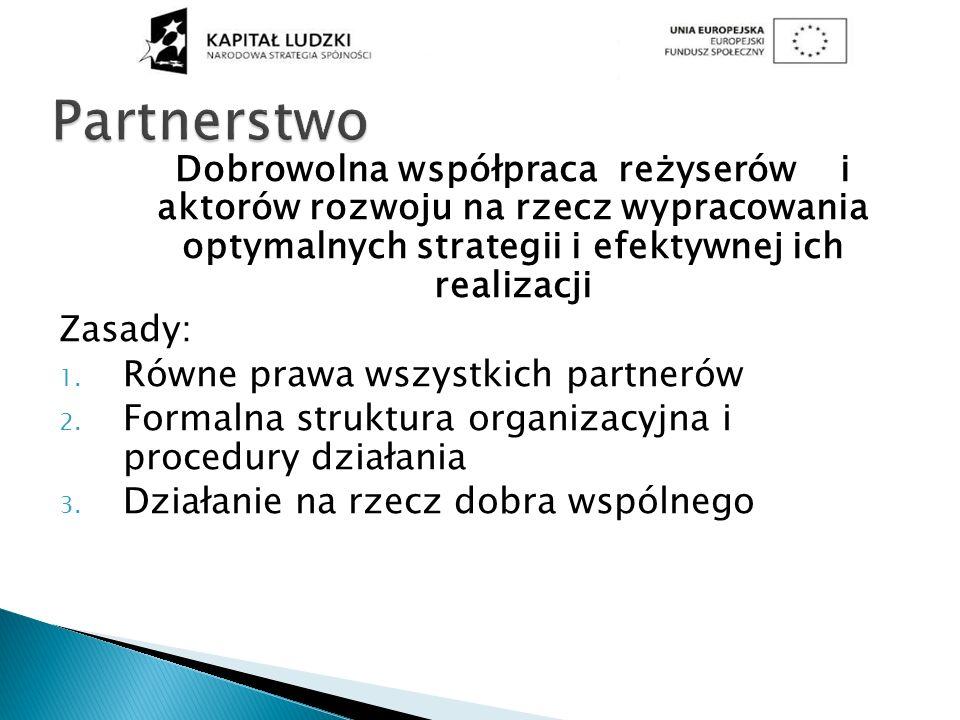 Partnerstwo Dobrowolna współpraca reżyserów i aktorów rozwoju na rzecz wypracowania optymalnych strategii i efektywnej ich realizacji.