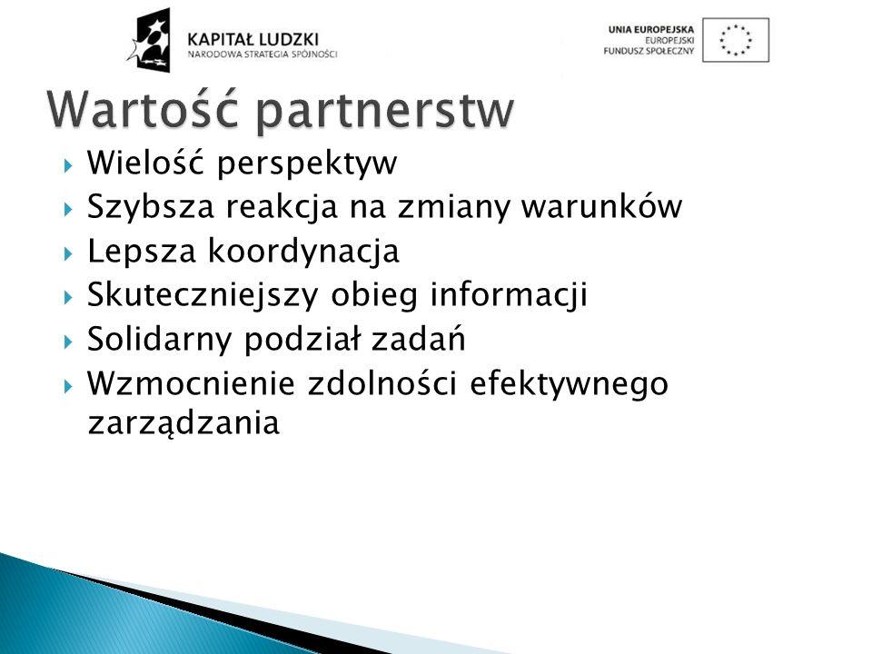 Wartość partnerstw Wielość perspektyw