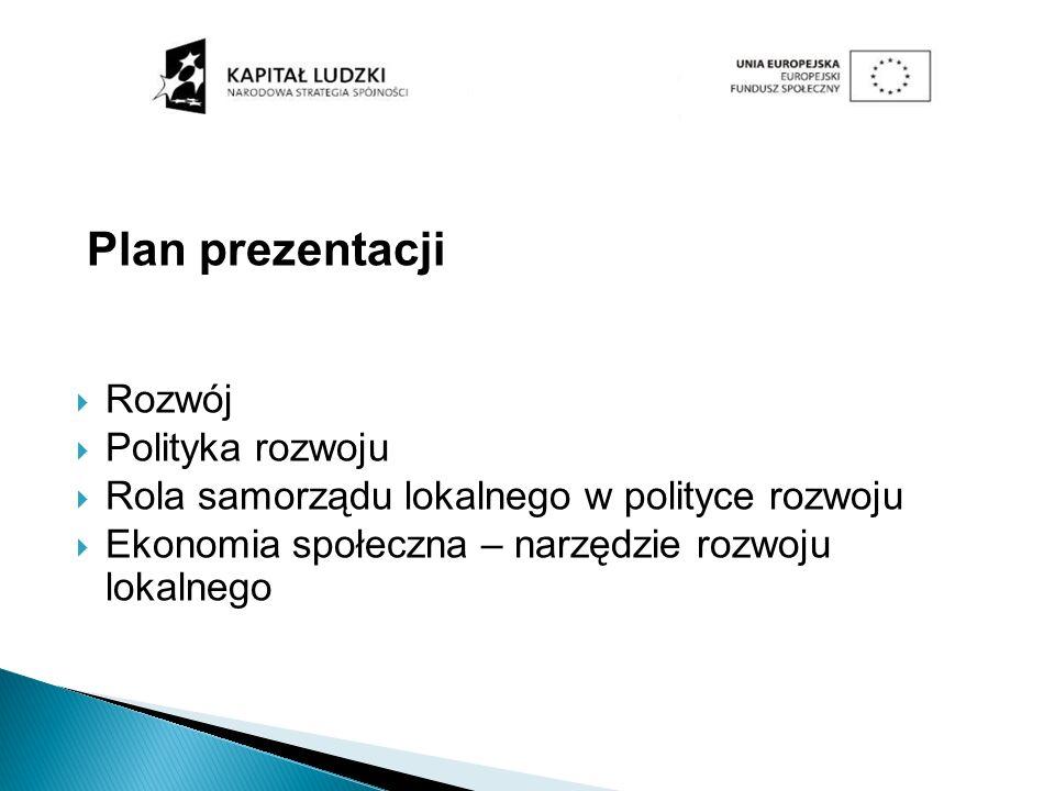 Plan prezentacji Rozwój Polityka rozwoju