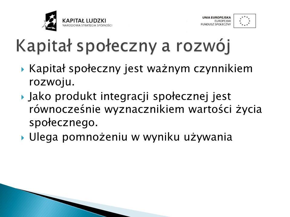 Kapitał społeczny a rozwój