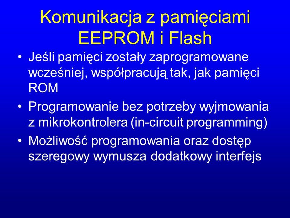 Komunikacja z pamięciami EEPROM i Flash