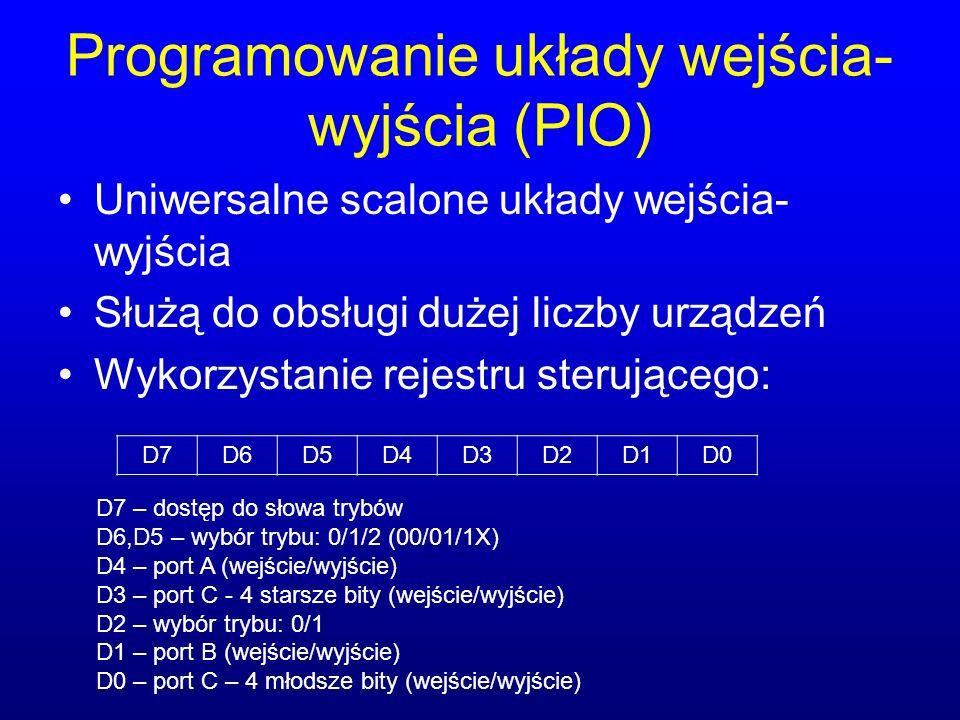 Programowanie układy wejścia-wyjścia (PIO)
