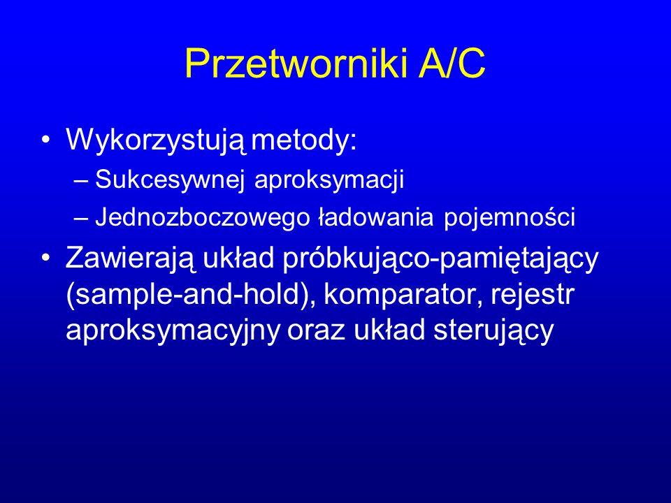 Przetworniki A/C Wykorzystują metody: