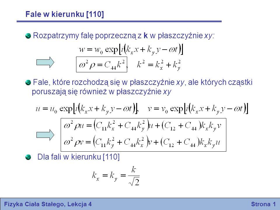 Fizyka Ciała Stałego, Lekcja 4 Strona 1