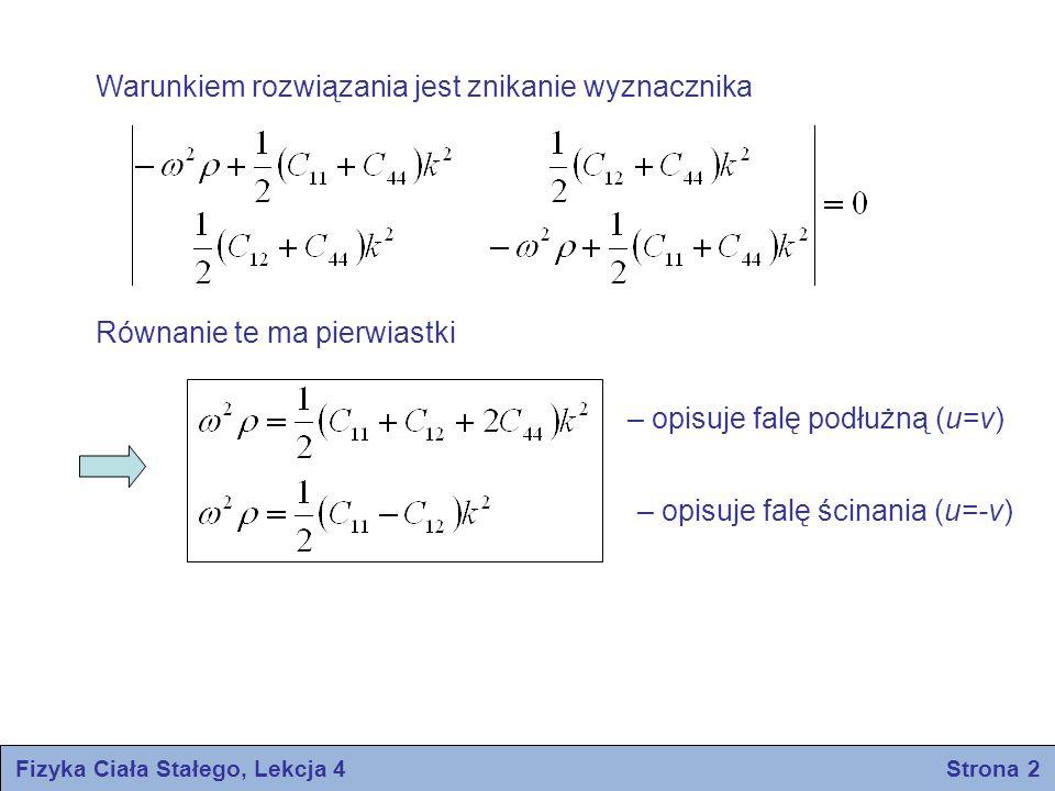 Fizyka Ciała Stałego, Lekcja 4 Strona 2
