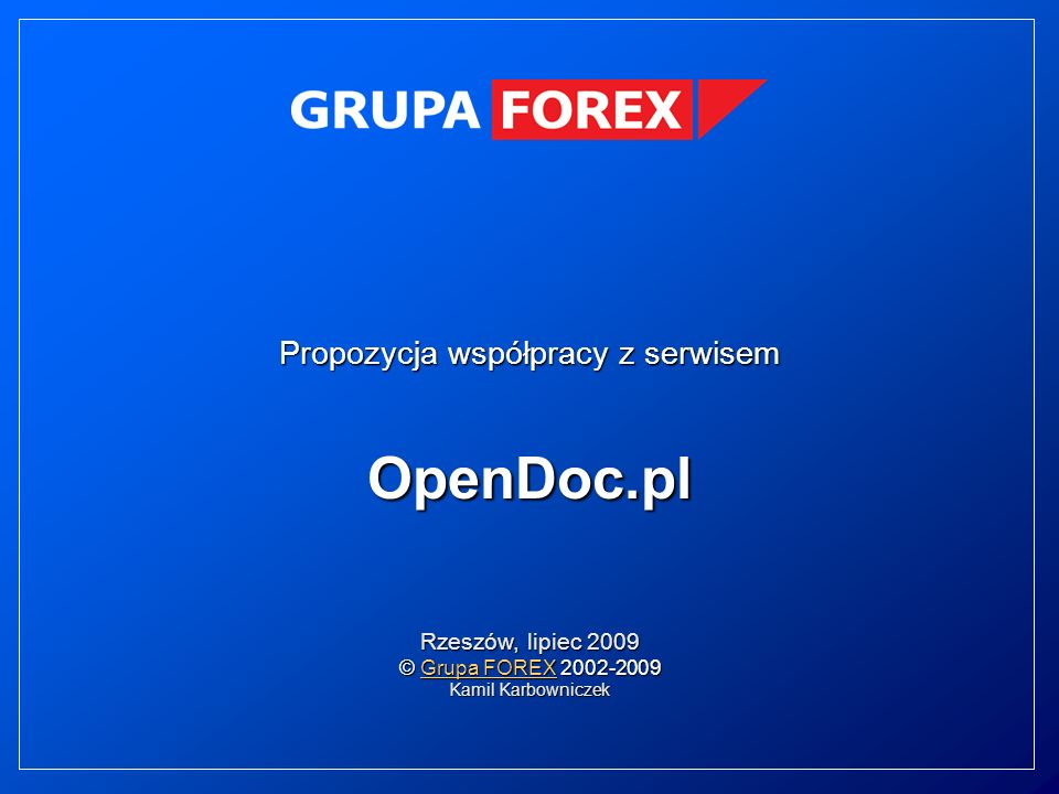 Propozycja współpracy z serwisem OpenDoc.pl