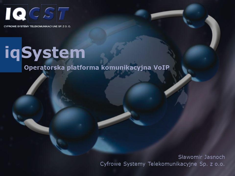 iq System Operatorska platforma komunikacyjna VoIP Sławomir Jasnoch