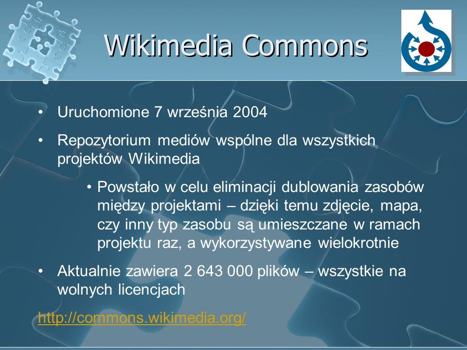 Wikimedia Commons Uruchomione 7 września 2004