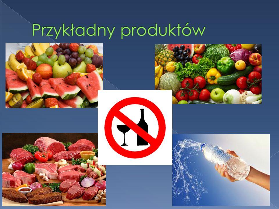 Przykładny produktów