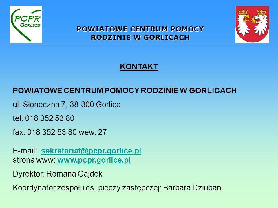 POWIATOWE CENTRUM POMOCY RODZINIE W GORLICACH